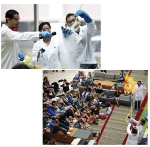 People doing science experiences